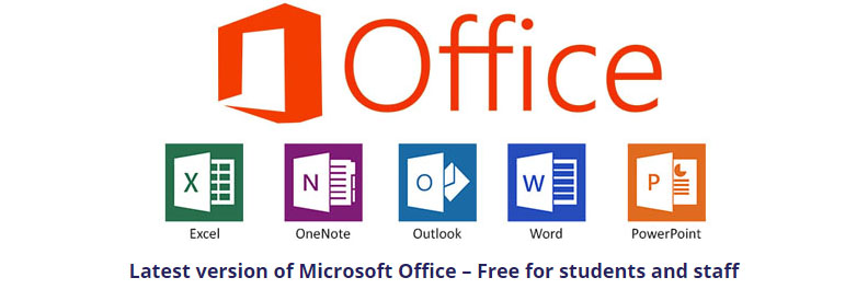 Latest version of Microsoft Office – Free for students and staff
