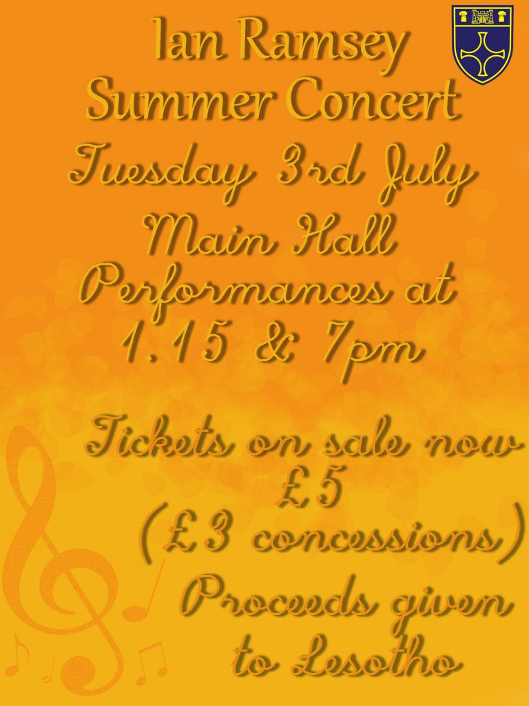 Summer Concert - Tuesday 3rd July + 1pm & 7pm - £5